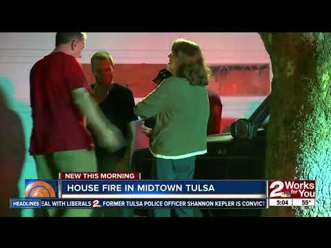 Tulsa Fire crews respond to midtown house fire