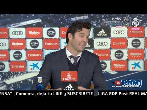 Real Madrid 2-0 Sevilla Rueda de prensa de SOLARI post JORNADA 20 (19/01/2019)