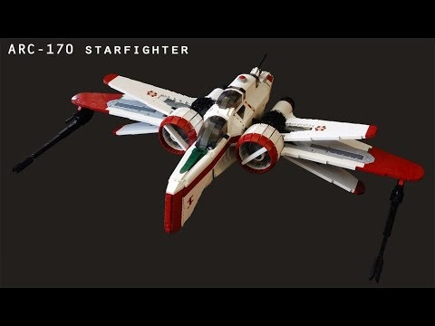lego moc arc 170 starfighter instructions 4300 pieces youtube. Black Bedroom Furniture Sets. Home Design Ideas