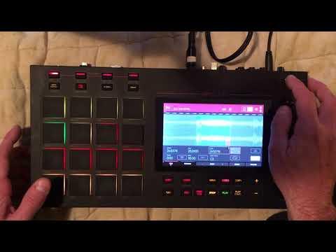 Akai MPC LIVE Standalone - Quick Sample Chop to Beat (No Edits)