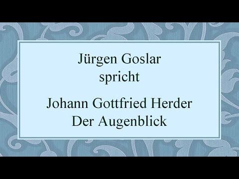 "Johann Gottfried Herder ""Der Augenblick"" I"