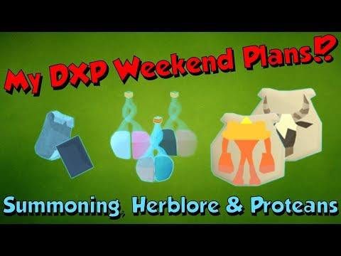 My Double XP Weekend Plans? [Runescape 3] Hopefully 100m+ XP!