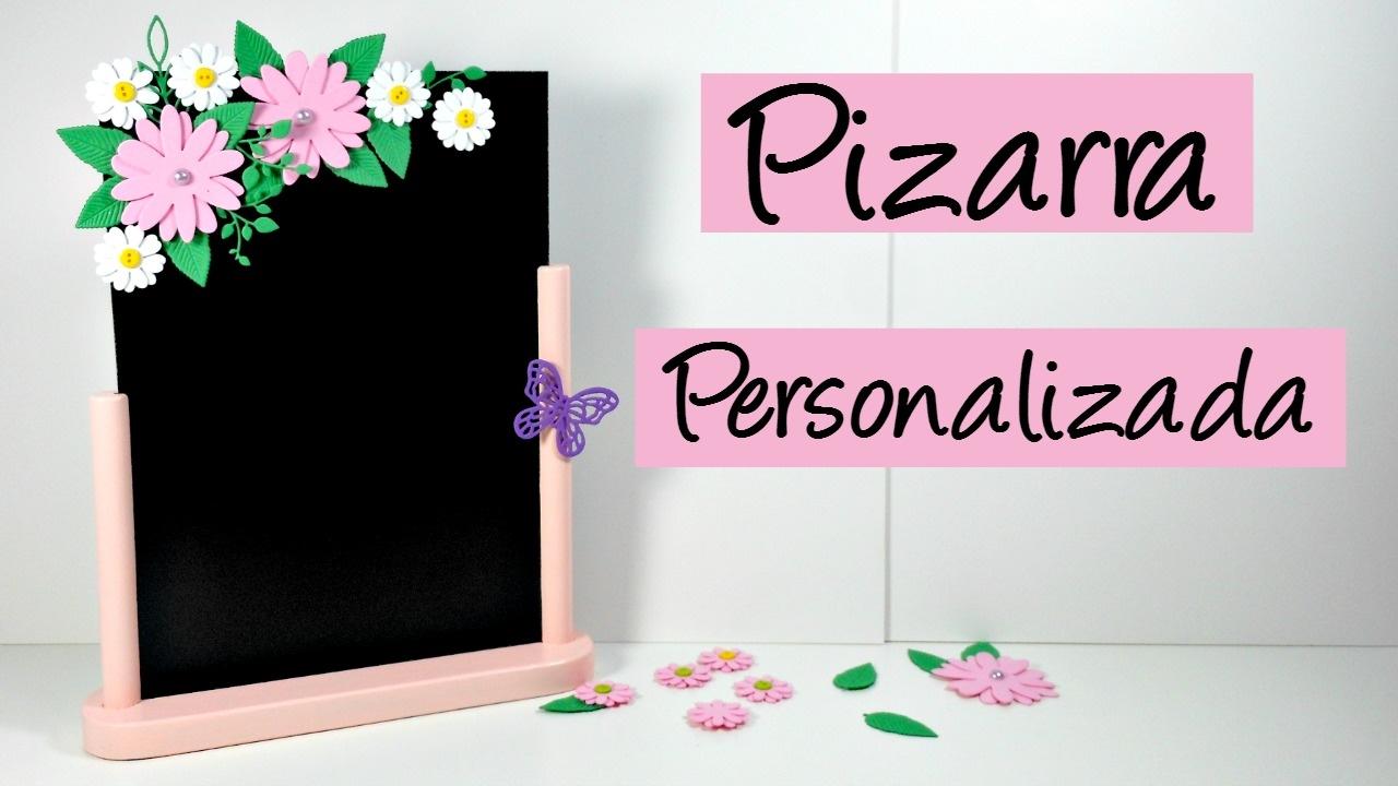 C mo personalizar una pizarra con goma eva decoraci n - Pizarras para decorar ...