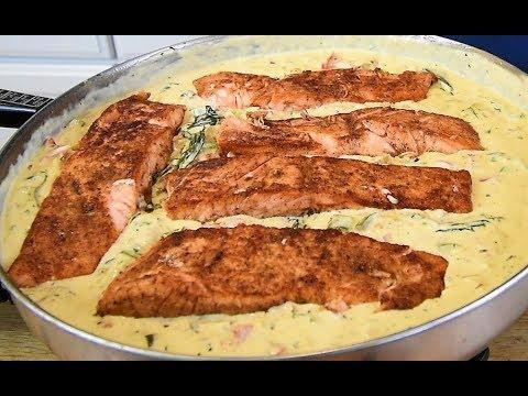 Creamy Garlic Butter Salmon Recipe - Keto Recipes - How To Cook Salmon