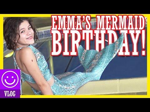 BIRTHDAY VLOG! EMMA'S A MERMAID! | KITTIESMAMA from YouTube · Duration:  12 minutes 14 seconds