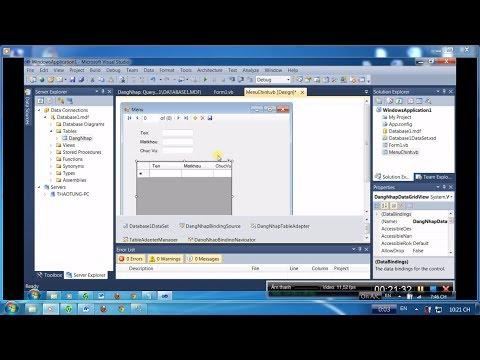 Lập Trình SQL trong  visual studio và kết nối cơ sở dữ liệu trong VB.Net