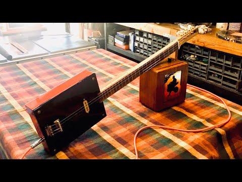 DIY 4 string fretted Cigar Box Electric Guitar
