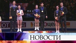 Е.Тарасова и В.Морозов заняли второе место в соревнованиях спортивных пар на ЧМ в Японии.