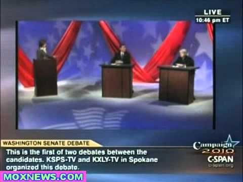 PATTY MURRAY vs DINO ROSSI Washington State Senate Debate pt.4