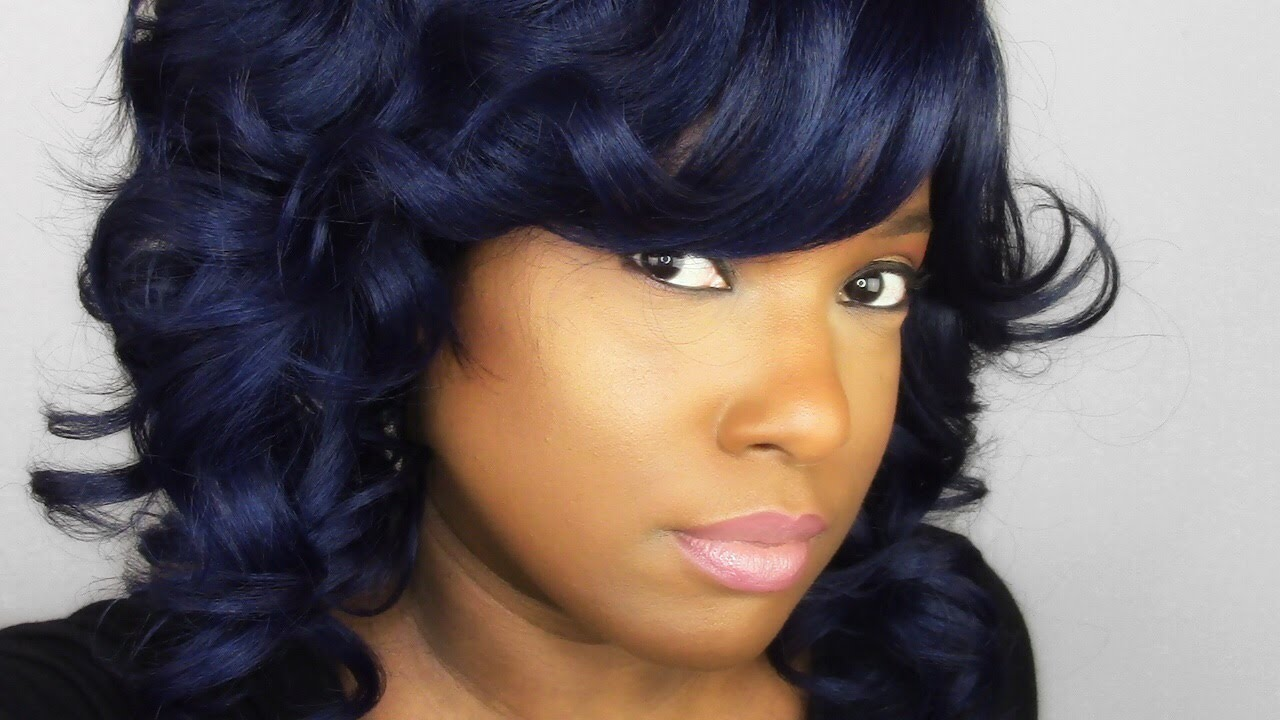 Zury Sis Sister Wig Angled Line Cut Styles A In Mika Indigo Blue You