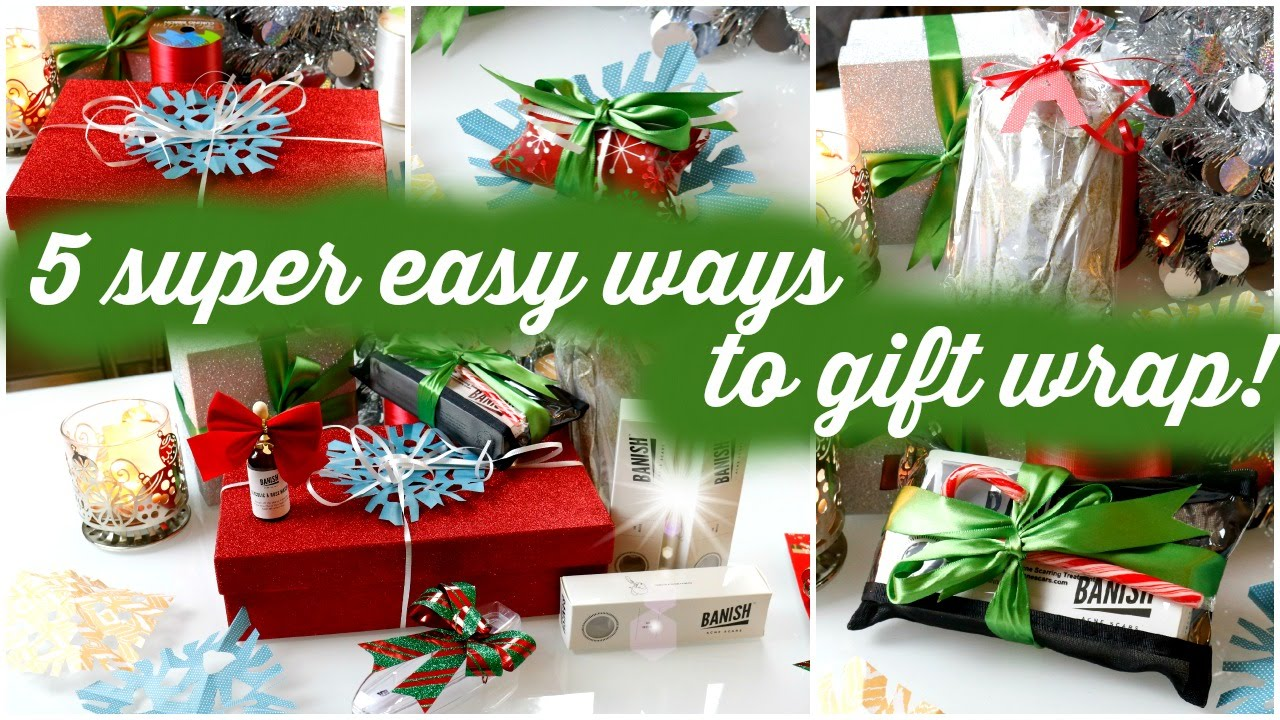 DIY LAST MINUTE GIFT WRAP | EASY WAYS TO GIFT WRAP - YouTube