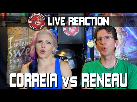 Correia vs Reneau - LIVE REACTION full fight