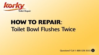 Toilet Bowl Flushes Twice