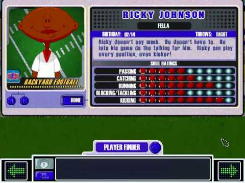 Backyard Football 2004 ricky johnson theme - backyard football 2002 - youtube