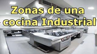 Zonas de una cocina industrial