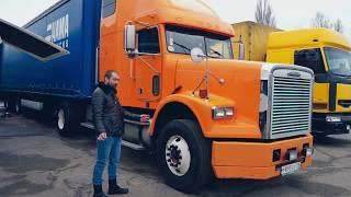 МОЙ ОБЗОР ГРУЗОВИКА Freightliner FLD Американская классика. Американский грузовик изнутри