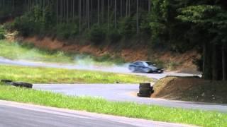2015/06/15 せんちん会2(三河モーターランド走行会) BMW M3 タイヤ脱輪
