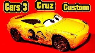 Cars 3 Custom Diecast Cruz Ramirez as Frances Beltline Demolition Derby  Primer McQueen and Sally
