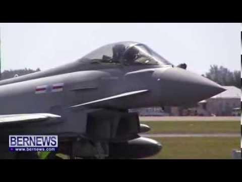RAF Jets Land in Bermuda, Mar 11 2014