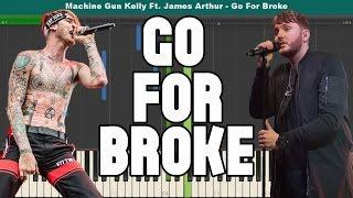 Go For Broke Piano Tutorial - Free Sheet Music (Machine Gun Kelly Ft. James Arthur)