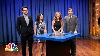 Catchphrase with Lucy Liu, Zachary Quinto and Giada De Laurentiis (Late Night with Jimmy Fallon)