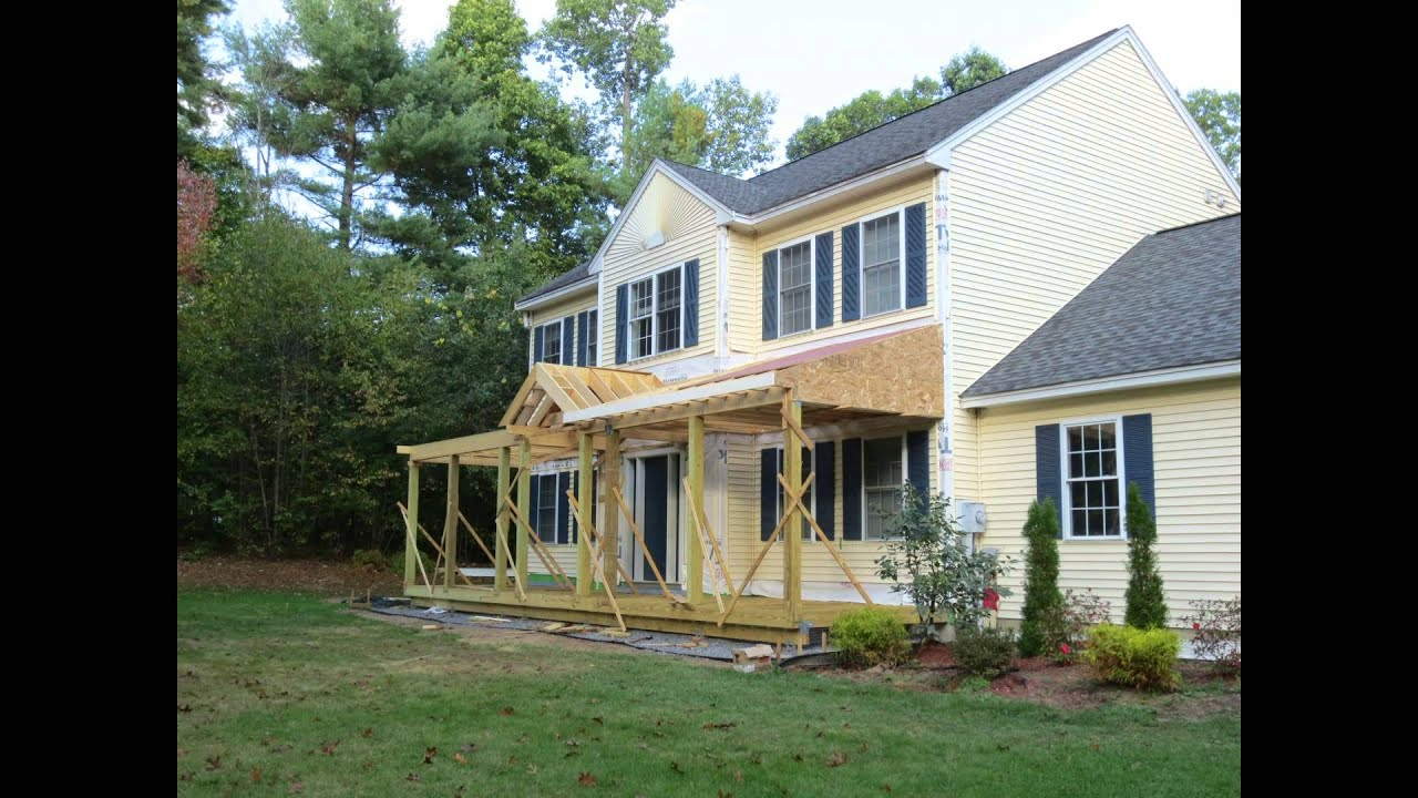 house with porch colonial porch construction youtube 5574