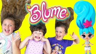 Fun with Blume Surprise Toys & Ava Isla and Olivia but WHO HAS THE LONGEST HAIR?