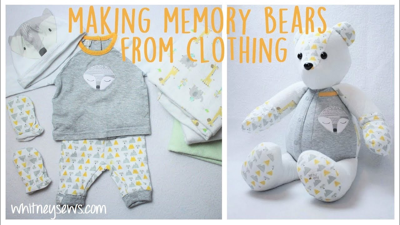 How To Make A Memory Bear From Clothing Youtube