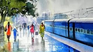 Indian Railway Paintings by Bijaya Biswal