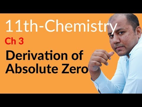 FSC Part 1 Chemistry Lecture,Derivation of Absolute Zero-Chemistry book 1 Chapter 3 Gases
