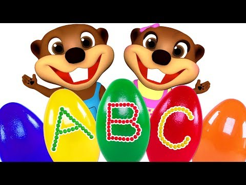 ABC Surprise Eggs Opening | Teach ABC Song For Children | Learn Colors With Learning Toys & Play Doh