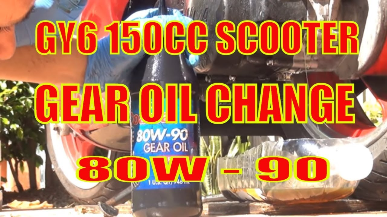 Scooter gear oil change gy6 150cc