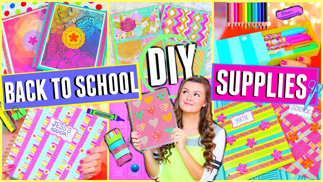 Homemade School Cool Supplies For Kids