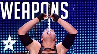 5 Intense Weapon Auditions On Got Talent