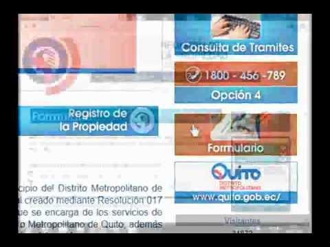 Registro de la Propiedad de Quito - GRAVAMEN PROPIEDAD HORIZONTAL