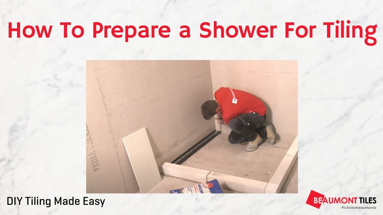 How to Prepare a Shower for Tiling: DIY Tiling Made Easy - YouTube