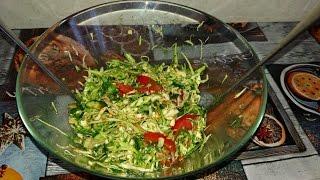 Салат из молодой капусты. Легкий Салат из Капусты. Весенний Вкусный салат из овощей