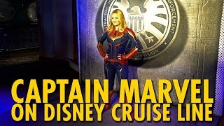 Captain Marvel on Disney Cruise Line | Marvel Day at Sea