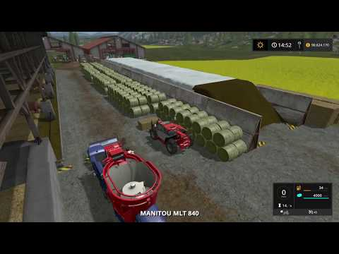 Let's Play Farming Simulator 2017 | Goldcrest Valley | feeding 60 cows | Episode 33