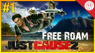 Just Cause 2 Free Roam Gameplay #1 - Hotel Base Jump (Just Cause 2 Free Roam)