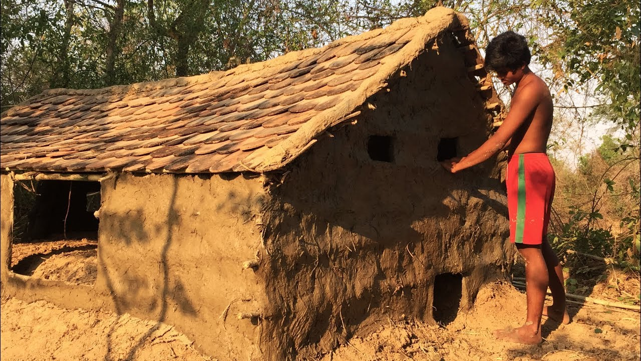 Secret of Primitive: Update house underground Tiled Roof Hut To Mud Wall