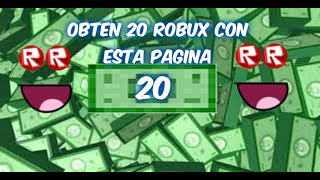 GET 20 ROBUX WITH THIS NEW PAGE ON ROBLOX: OR