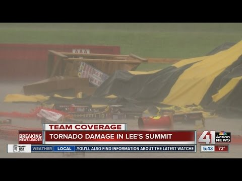 Residents in Lee's Summit begin to clean up after tornado touches down