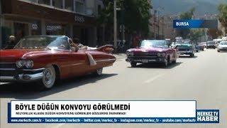 MerkezTV haber - Klasik Düğün Konvoyu Görenler Gözlerine İnanamadı