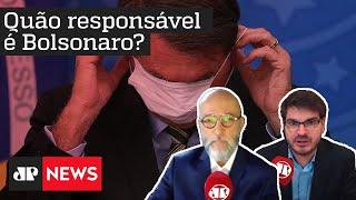 Quão responsável é Bolsonaro diante da crise do coronavírus? Josias e Constantino debatem