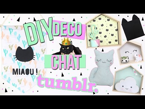 DIY ┋ DECO CHAT & CUTE CHAMBRE 😻 TUMBLR STYLE - cat room decor francais