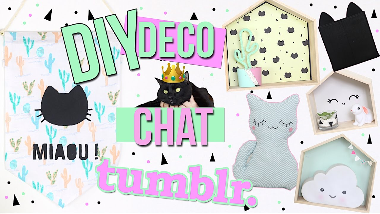Diy Deco Chat Cute Chambre Tumblr Style Cat Room Decor