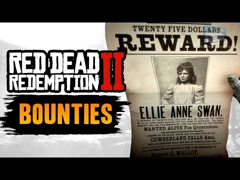 Red Dead Redemption 2 All Bounties [RDR2 Bounty Hunter]