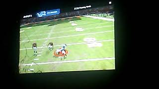 My friend playing football