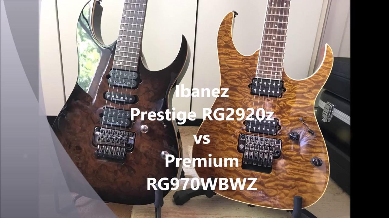 Ibanez RG Premium vs Prestige Shootout - RG970WBWZ vs RG2920z